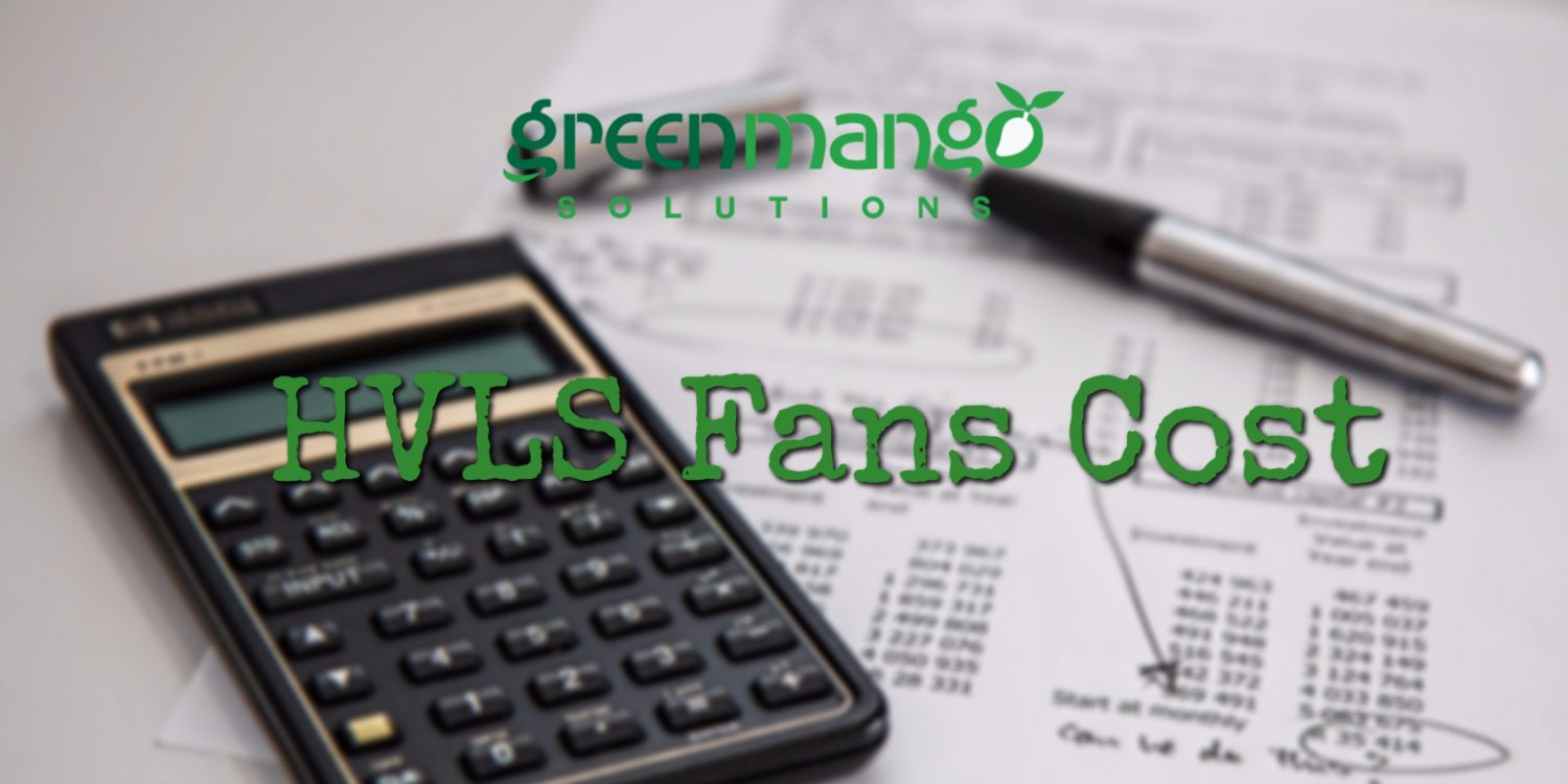 HVLS fans cost calculator computation